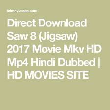 Direct Download Saw 8 Jigsaw 2017 Movie Mkv HD Mp4 Hindi Dubbed