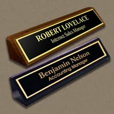 Name Placards Simple fice Desk Name Plates For Your Interior