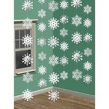 Christmas Tree Amazon Uk by Amscan 2 1 M Snowflake String Decoration Amazon Co Uk Kitchen U0026 Home
