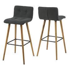 chaise bar pas cher 2 tabourets de bar kahlo gris foncé tabourets de bar gris foncé