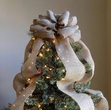 8ft Christmas Trees Artificial Ireland by Burlap Christmas Tree Topper Bow Rustic Topper Shabby Chic