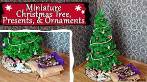 Saran Wrap Christmas Tree With Ornaments by Miniature Christmas Tree Ornaments U0026 Presents Tutorial Youtube