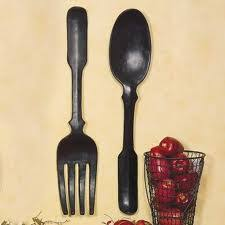 large wooden fork and spoon wall hanging where to buy large spoon and fork wall decor