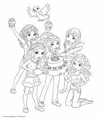 Lego Friends Awesome Coloring Pages