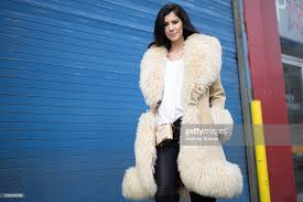 Amber Alexandria Is Seen At Pier 59 Studios Wearing Vintage London Fur Coat Alexander Wang