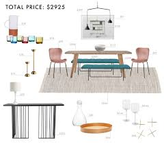 Emily Henderson Budget Room Design Colorful Mid Century Modern Dining Under 3000
