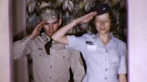 SOLDIERS SALUTE Male And Female Couple Soldiers 1960s Vintage Film Home Movie 9166 Stock Video Footage