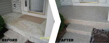 Decorative Concrete Coating For Exterior Patios Or Sidewalks