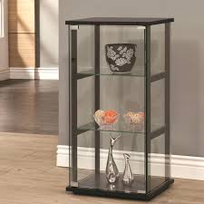 Pulaski Corner Curio Cabinet by Black Lacquer Curio Cabinet With Glass Doors Corner