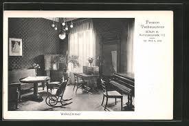 ak berlin schöneberg hotel pension tscheuschner kurfürstenstrasse 112 wohnzimmer