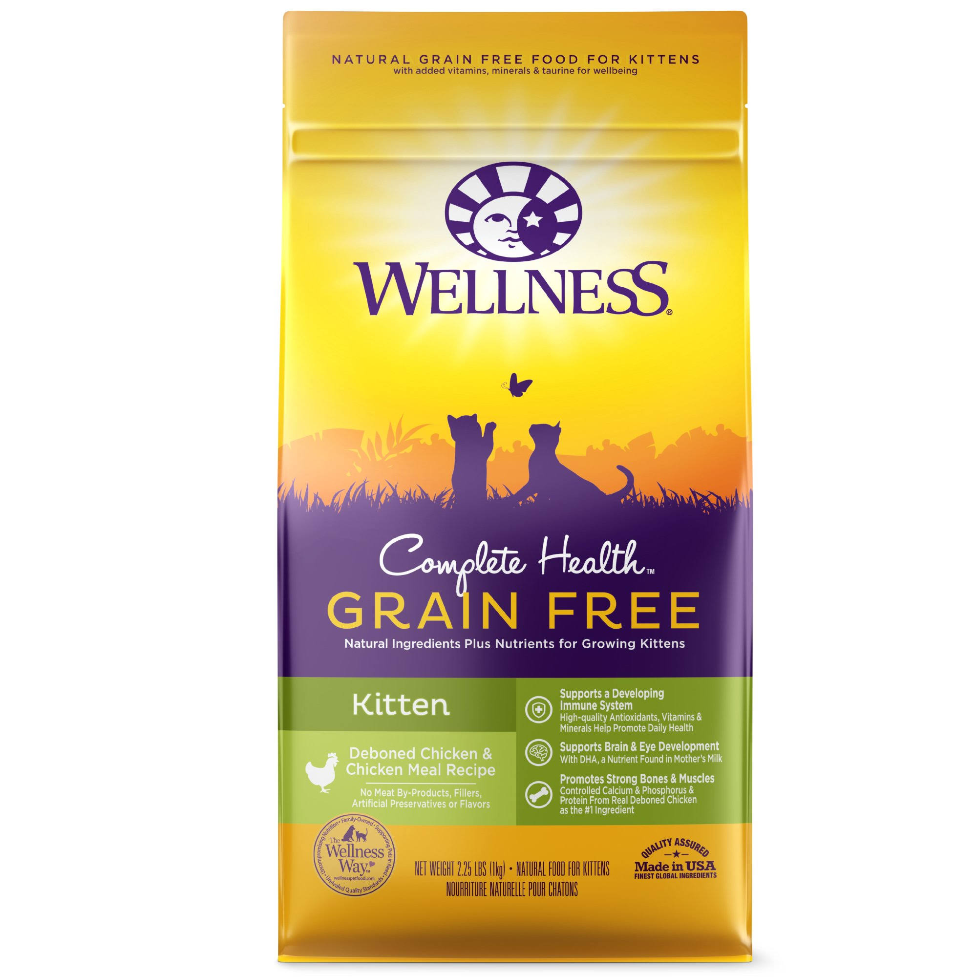 Wellness Grain Free Kitten Food - Chicken, 2lb