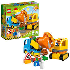 LEGO 10812 Duplo Town Toy Truck And Tracked Excavator, Large ...