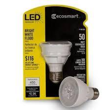 ecosmart 182284 par 20 8 watt 50w bright white 3000k led flood