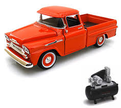 Diecast Car & Air Compressor Package - 1958 Chevy Apache Fleetside ... 1956 Ford F100 Pickup Truck 124 Scale American Classic Diecast World Famous Toys Diecast Trucks F150 F 1953 Car Package Two 143 Scale 2016f250dhs Colctables Inc New 1940 Black 125 Model By First Chevrolet Chevy 2017 Dodge Ram 1500 Mopar Offroad Edition Hobby 1992 454 Ss Off Road Danbury Mint For 1973 Ranger Red White 118