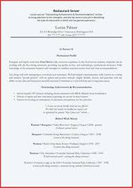 Professional Restaurant Server Resume Format Sample Download
