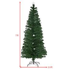 Best 7ft Artificial Christmas Tree by Goplus 7ft Pre Lit Fiber Optic Artificial Christmas Tree W
