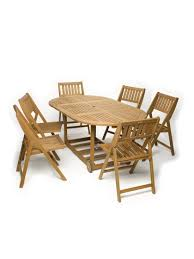 patio table set 7 piece oval folding table gardeners com