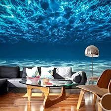 dalxsh fototapete 3d stereo blau meerwasser wandbild