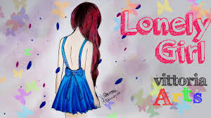 How To Draw Lonely Girl