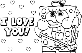 Coloring Page Print Happy Valentine