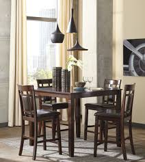 American Freight Dining Room Sets by Bennox Brown 5 Piece Counter Height Dining Room Set From Ashley