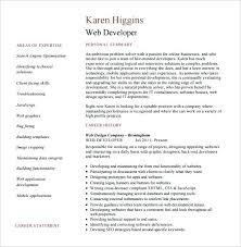 Sample Front End Developer Resume Experienced Web Developer Resume