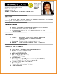 Captivating Resume Example With Ojt Experience Sample For College Student Philippines Also Rhsidemcicekcom Templates Rare Format