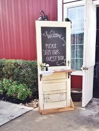 Rustic Wedding Door Welcome Table Perfection