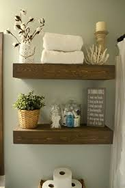 Rustic Shelves Wood Floating Shelf With Hooks