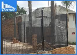 The Drawing Of Anti Climb Fence Installation Including Green Powder Coated Anti Climb Fence Opening For Airport Walkway