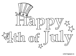 Happy Fourth Of July Greeting Cards Coloring Pages For Kids Printable