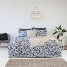 100 Apartmento Arabica Navy Quilt Cover Set Single Bed