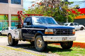100 Ford Tow Trucks ACAPULCO MEXICO MAY 31 2017 Truck F350 In The Stock