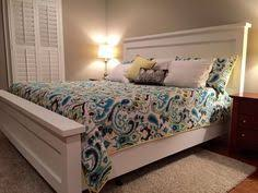 build a bed wood shims fancy it up cost about 130 free diy