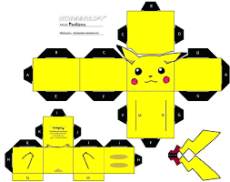 Pokemon Pikachu Papercraft Templates 3d Paper Craft Model Making Free Download Printables