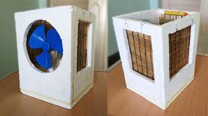 how to make an air cooler at home best out of waste youtube