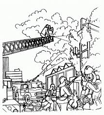 Firefighter Coloring Page Pages Fireman
