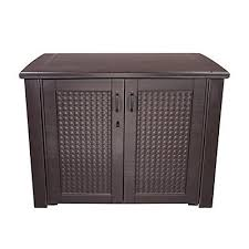 suncast 60 gal resin wicker cube deck box the home depot canada