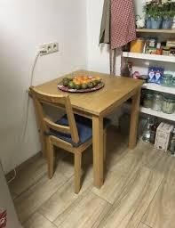 ikea tisch mit einem stuhl 75cm x 75 cm eur 10 00
