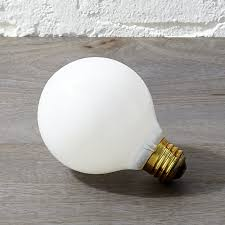 frosted 40w light bulb cb2