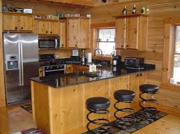 kitchen rustic cabin ideas small log attractive home interior