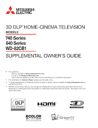 Mitsubishi Model Wd 73640 Lamp by Download Free Pdf For Mitsubishi Wd 73740 Tv Manual