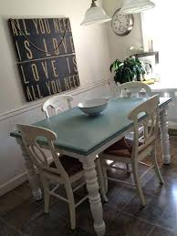 Blue Kitchen Table Round With Fan Chairs