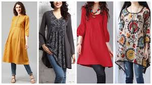 Latest Long Shirts Fashion With Jeans For Girls Women