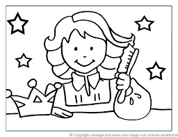 Stars Kid Hair Coloring Pages