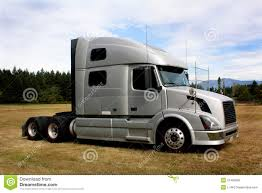 Truck Tractor Sleeper Cab Stock Image. Image Of Clouds - 21405895