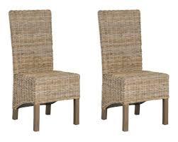 Pembrooke Rattan Side Chair Natural Unfinished (set Of 2)