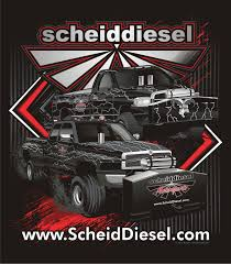 100 Diesel Truck Apparel Scheid Motorsports Pull Team Shirts