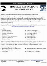 Newest Hotel Duty Manager Cv Example Bestume Format For Management Freshers Student Download