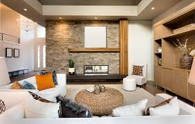Zen Living Room Decor With White Furniture And Natural Wood Accents